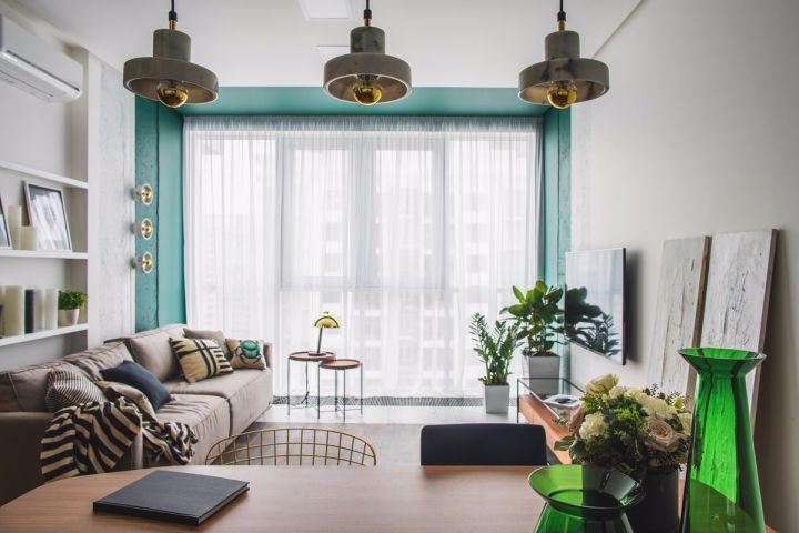 67平米北欧风一居室公寓装修效果图