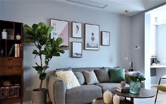 77平米北欧风格二居室装修效果图