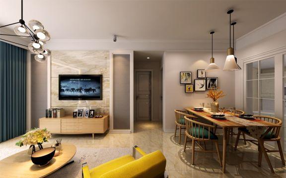 11万预算90平米三室两厅装修效果图