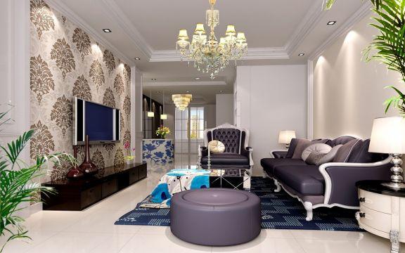 120平米三居室现代装修效果图