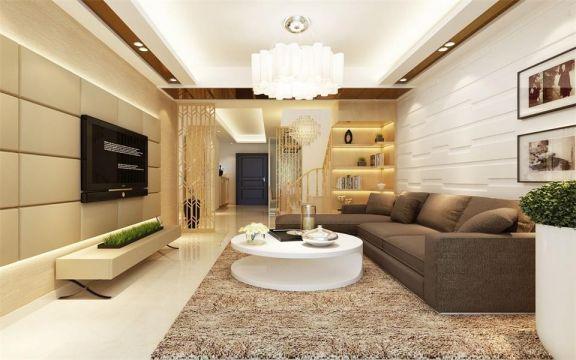 现代简约风格200平米四室两厅新房装修效果图