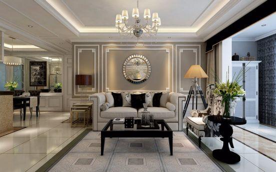 150平米三室两厅两卫简欧风格装修效果图