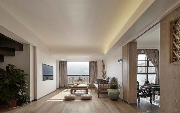 顶秀国际小区125平中式风格三室装修效果图