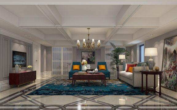 135平米三居室欧式风格装修效果图