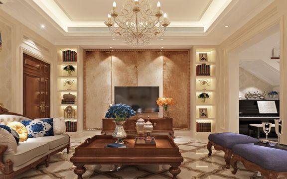150平三居室新中式风格装修效果图