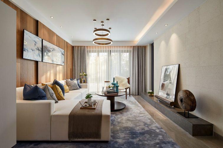 混搭风格96平米三室两厅新房装修效果图