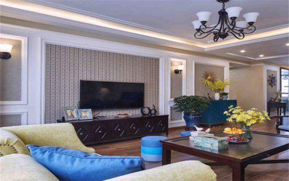 133平米现代美式风格三居室装修效果图