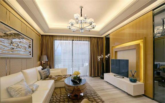 简欧风格115平米三室两厅新房装修效果图