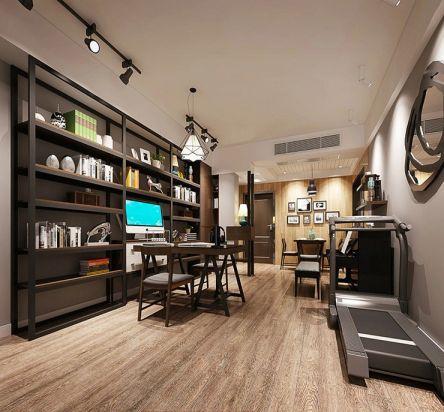 混搭风格77平米一居室新房装修效果图