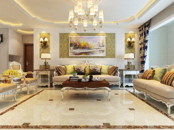 中海国际140平米欧式风格三居室装修效果图