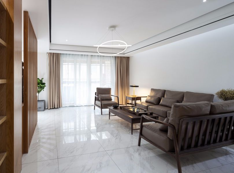 现代中式风格157平米三室两厅新房装修效果图