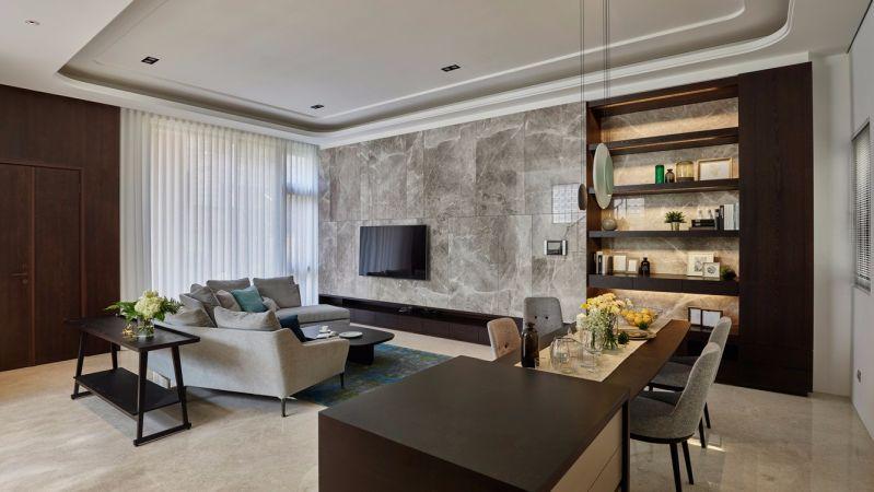 现代风格145平米复式新房装修效果图