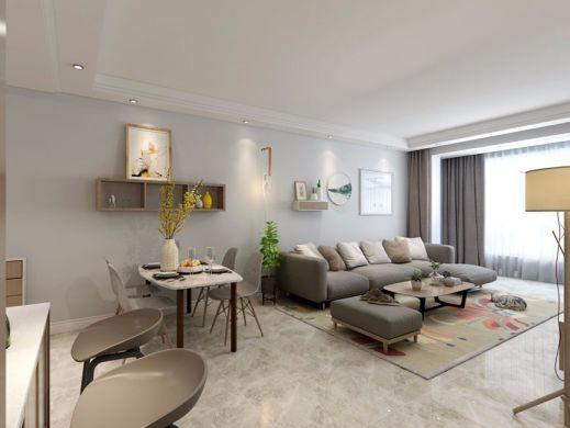 客厅灰色沙发北欧风格装饰效果图