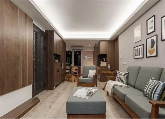 现代风格110平米三室两厅新房装修效果图