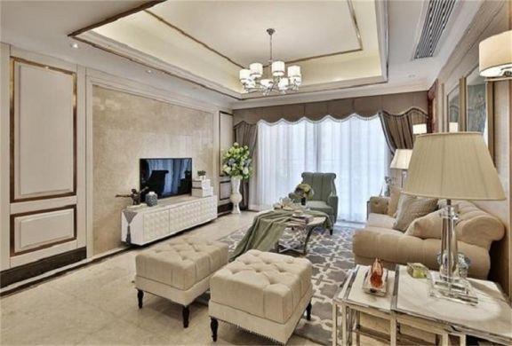 欧式风格103平米三室两厅新房装修效果图