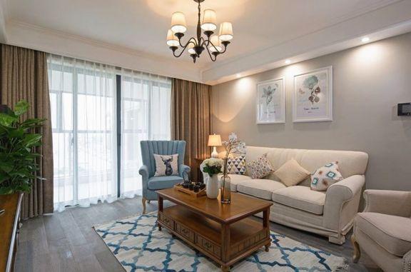 东湖城106平现代北欧三居室装修效果图