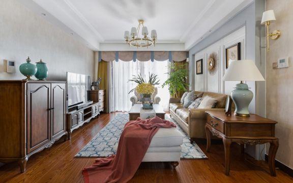 100平米三居室美式风格装修效果图