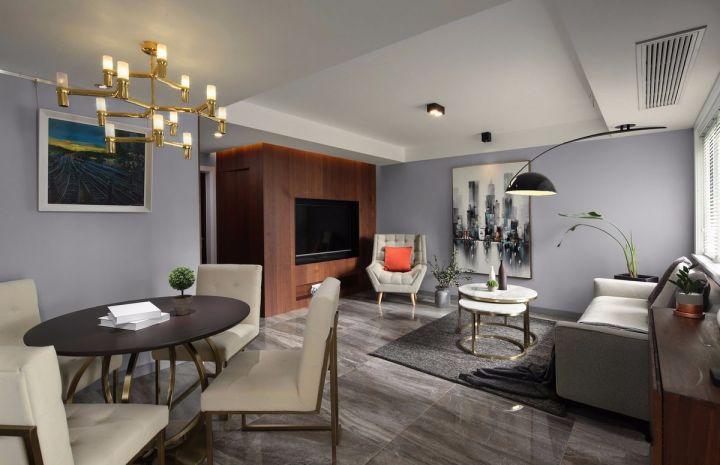 10万预算96平米三室两厅装修效果图