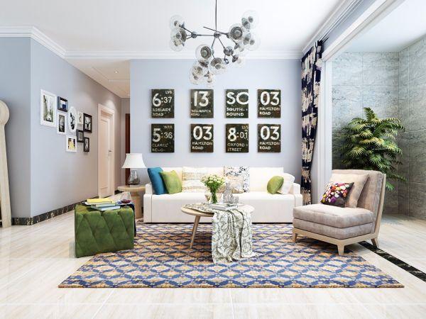 北欧风格118平米三室两厅新房装修效果图