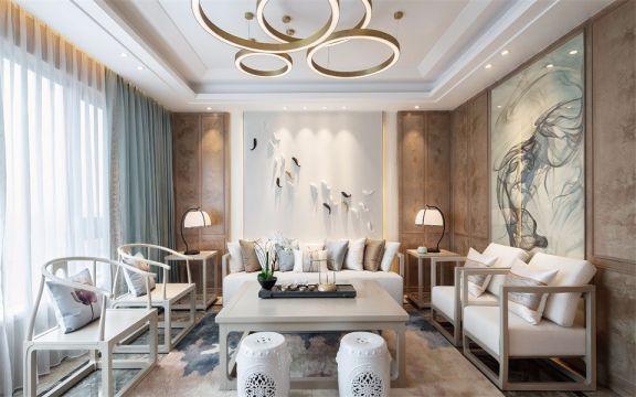 联投龙湾小区105平中式风格两居室装修效果图
