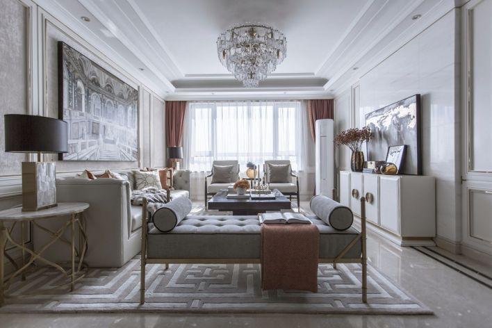 法式风格116平米三室两厅新房装修效果图