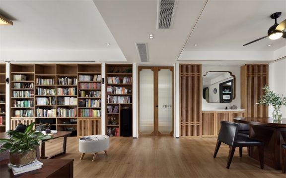 佳兆业小区95平中式风格两居室装修效果图