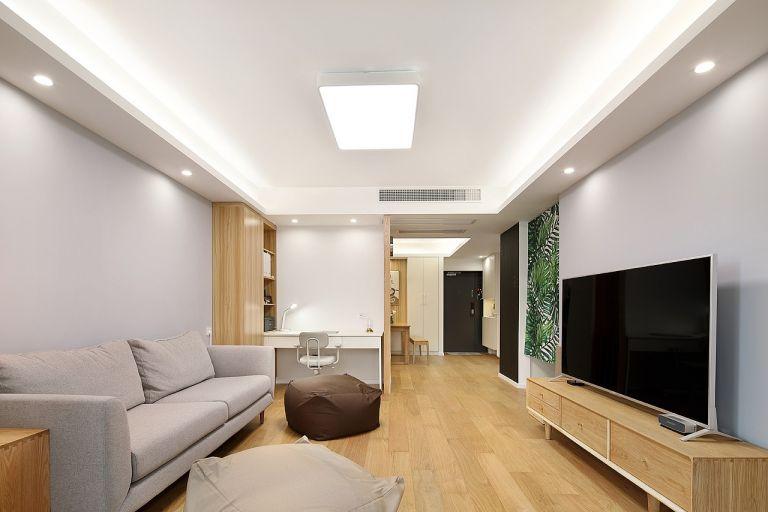 日式风格119平米三室两厅新房装修效果图