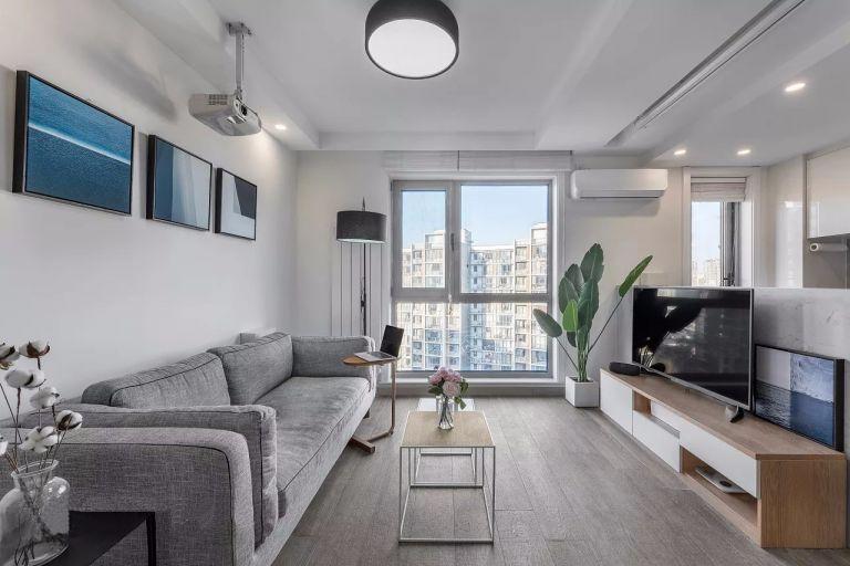 混搭风格89平米两室两厅新房装修效果图