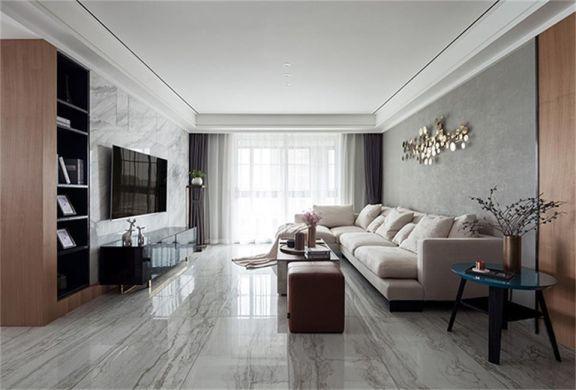 现代风格124平米三室两厅新房装修效果图