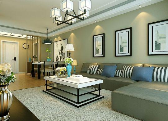 11万预算85平米两室两厅装修效果图