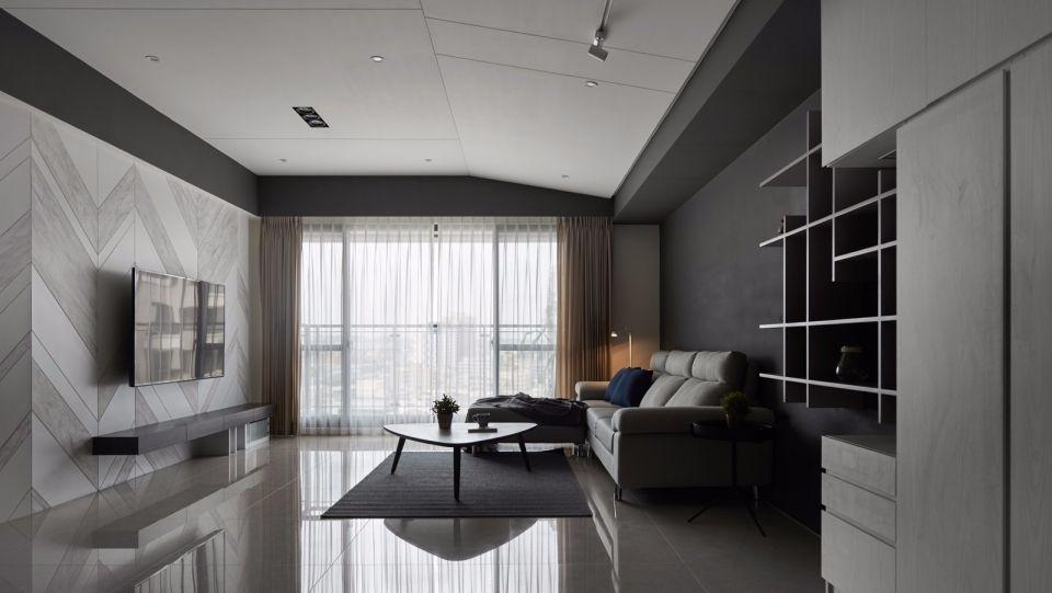 现代风格142平米三室两厅新房装修效果图