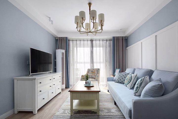 美式风格71平米两室两厅新房装修效果图