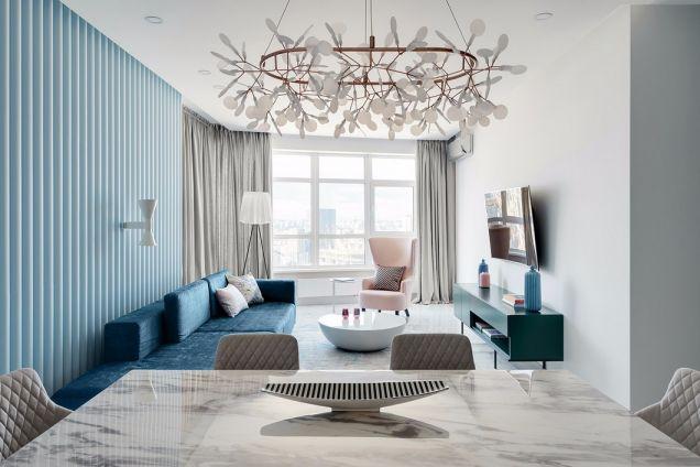 现代风格116平米三室两厅新房装修效果图