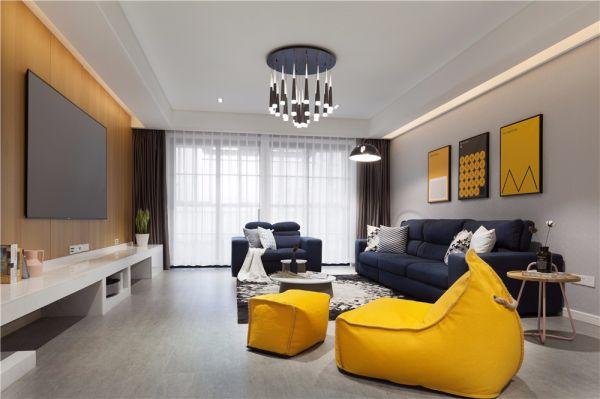 现代风格128平米三室两厅新房装修效果图