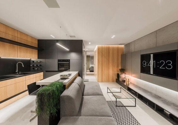 现代风格112平米三室两厅新房装修效果图