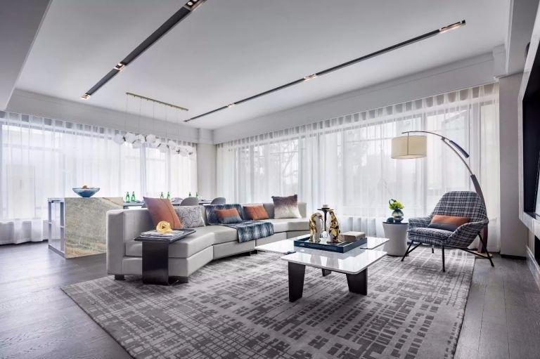 现代风格150平米四室两厅新房装修效果图