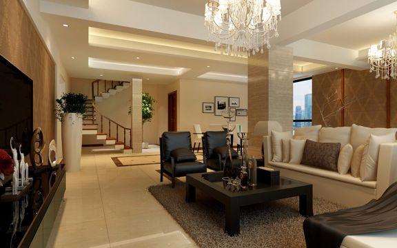 现代风格220平米别墅新房装修效果图