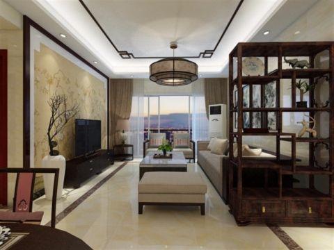 中式风格160平米三室两厅新房装修效果图