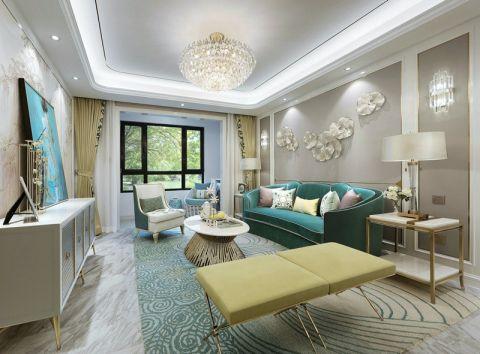 新古典风格130平米三室两厅新房装修效果图