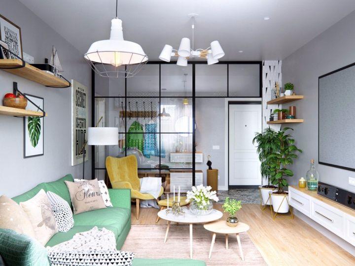 10.8万预算65平米公寓装修效果图