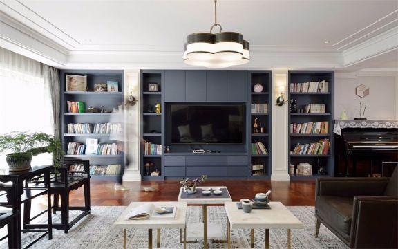 客厅咖啡色地板砖中式风格装饰效果图