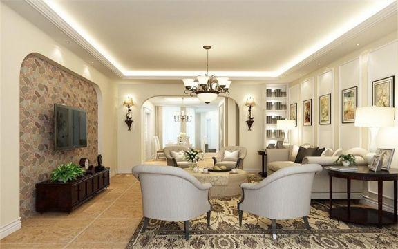 10万预算90平米两室两厅装修效果图