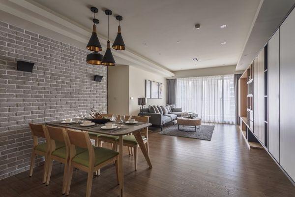 简约风格124平米三室两厅新房装修效果图
