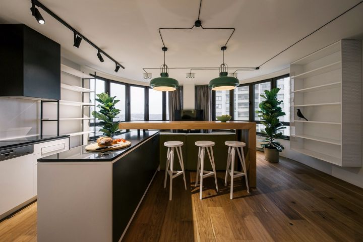 现代风格69平米两室两厅新房装修效果图