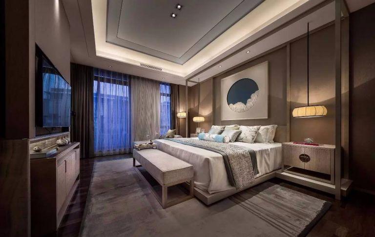 新中式风格256平米别墅室内装修效果图
