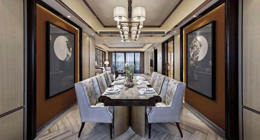 中式风格157平米四室两厅新房装修效果图