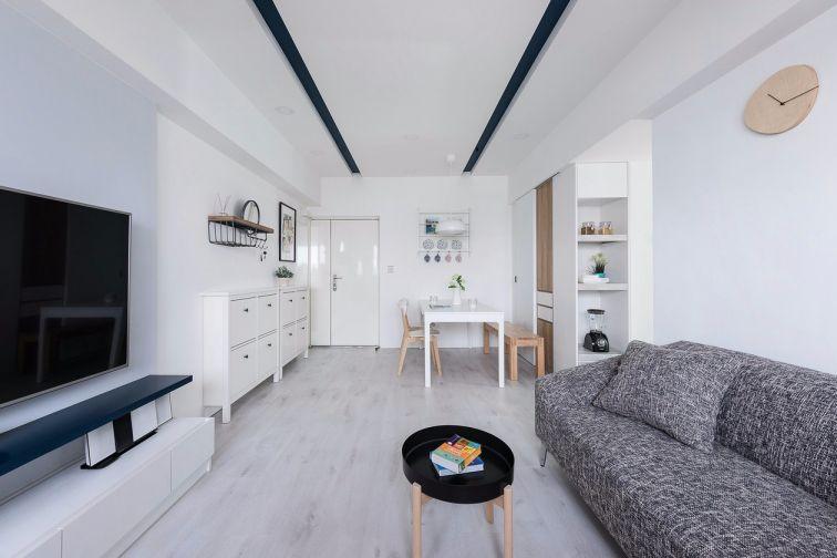 28平米北欧风格一居室装修效果图