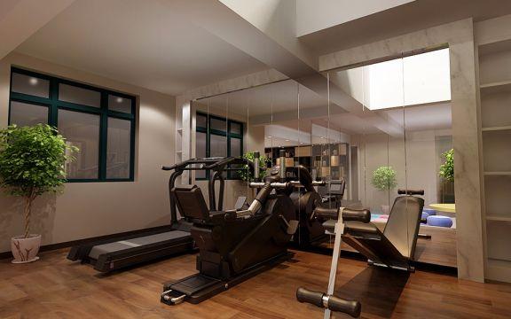 舒适健身房装潢图片