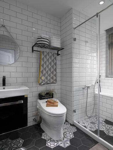 卫生间地板砖简欧风格装修设计图片