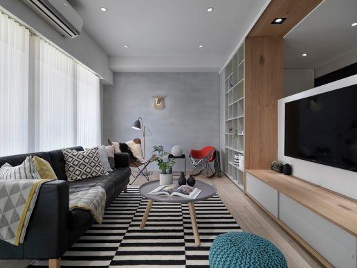 85平米简欧风格二居室装修效果图